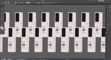 Отрисовка продуктов бренда Trandy Nails в векторе